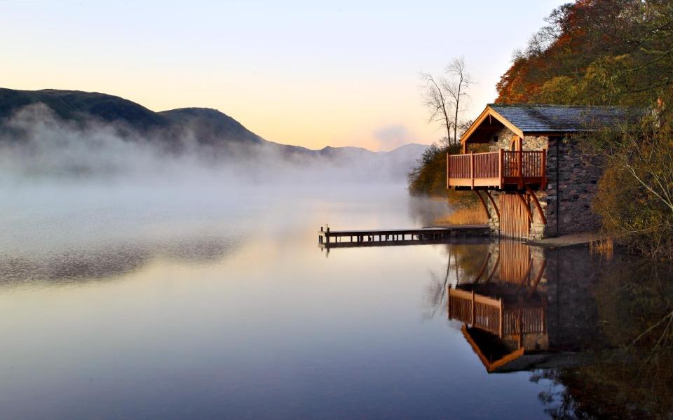 Картинки дом у озера на рабочий стол