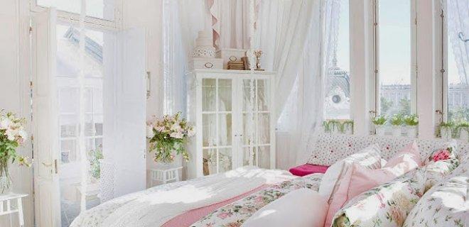 country tarzı yatak odası