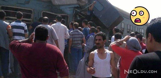 Mısır'ın İskenderiyye Kentinde İki Tren Çarpıştı