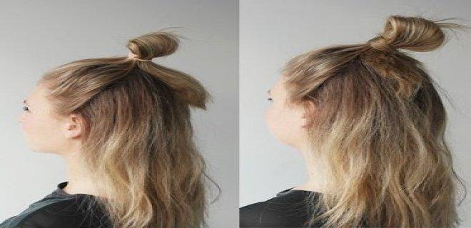 yarım saç modası
