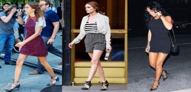 bağcıklı stiletto modası