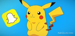 Snapchat'e de Pokemon Çılgınlığı Geldi