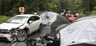 Sarıyer'de İki Otomobil Kafa Kafaya Çarpıştı
