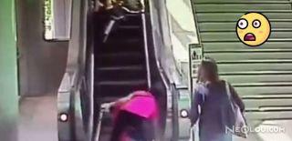 Çin'de Yürüyen Merdiven Dehşeti!