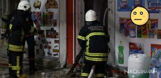 Marketi Yanan Kişi İtfaiye Erlerine Saldırdı