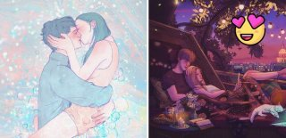 Sevgi Dolu Bir İlişkiyi Resimlerle Anlatabilen Harika Bir İnsan