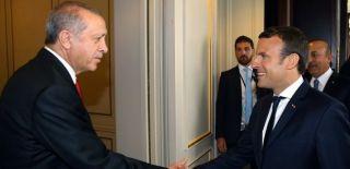 Cumhurbaşkanı Erdoğan ABD'de Macron ile Görüştü