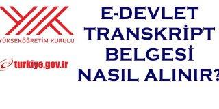E-Devlet Transkript Alma