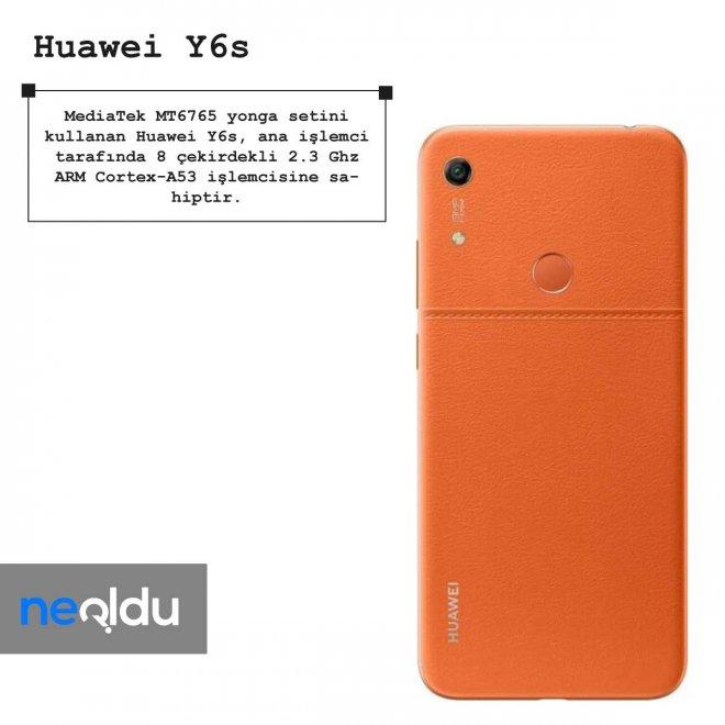 Huawei Y6s işlemci