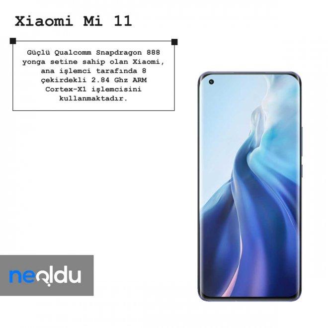 Xiaomi mi 11 işlemci