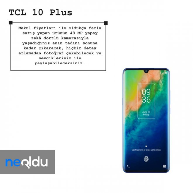 TCL 10 Plus kamera