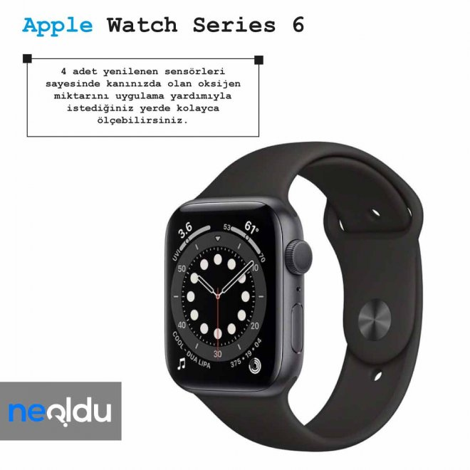 Apple Watch Series 6 oksijen miktarı