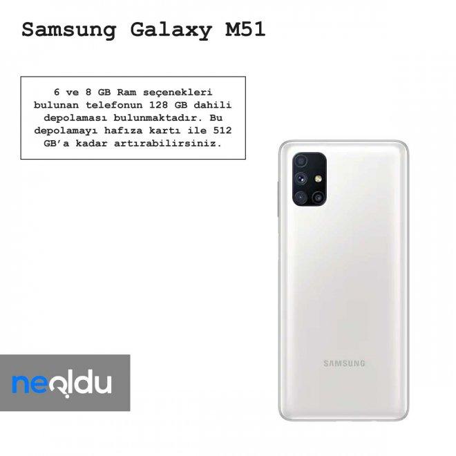 Samsung Galaxy M51 Ram özellikleri