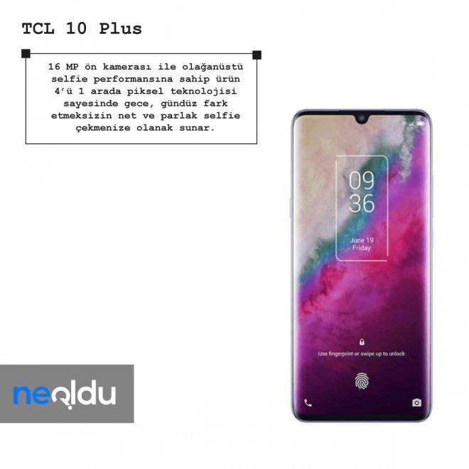 TCL 10 Plus ön kamera