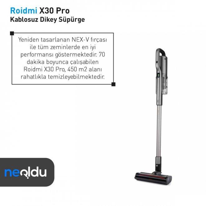 Roidmi X30 Pro çalışma süresi