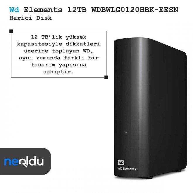 Wd Elements 12TB WDBWLG0120HBK-EESN