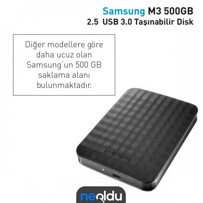 Samsung M3 500GB 2.5 USB 3.0 Taşınabilir Disk