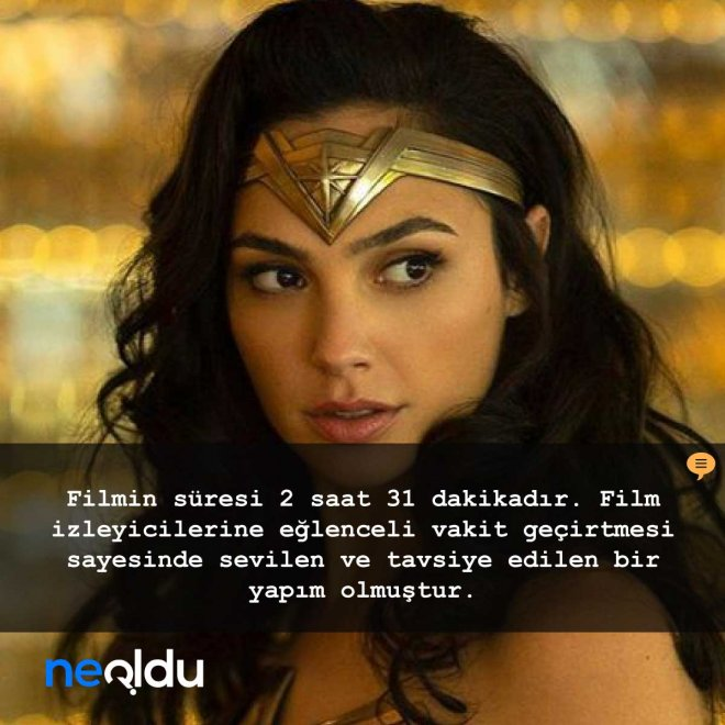 wonder woman 1984 süresi