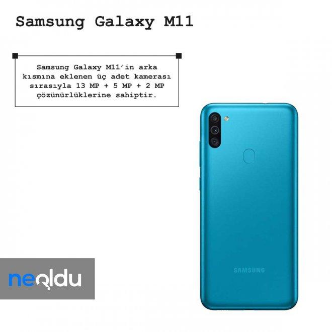Samsung Galaxy M11 kamera çözünürlüğü