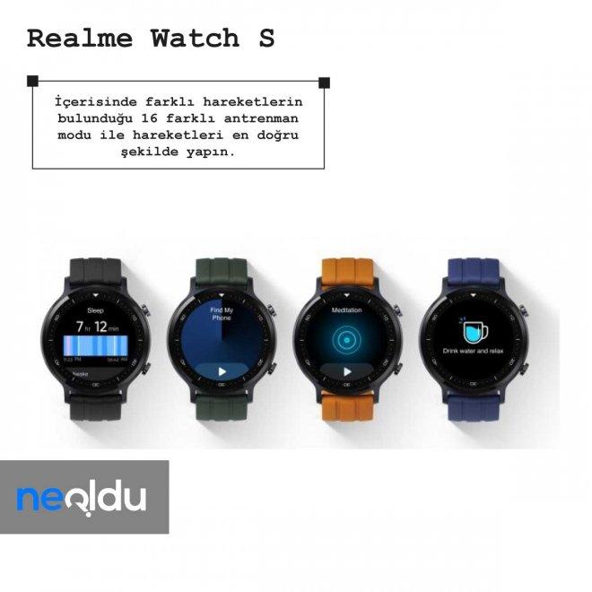 Realme Watch S antreman modu