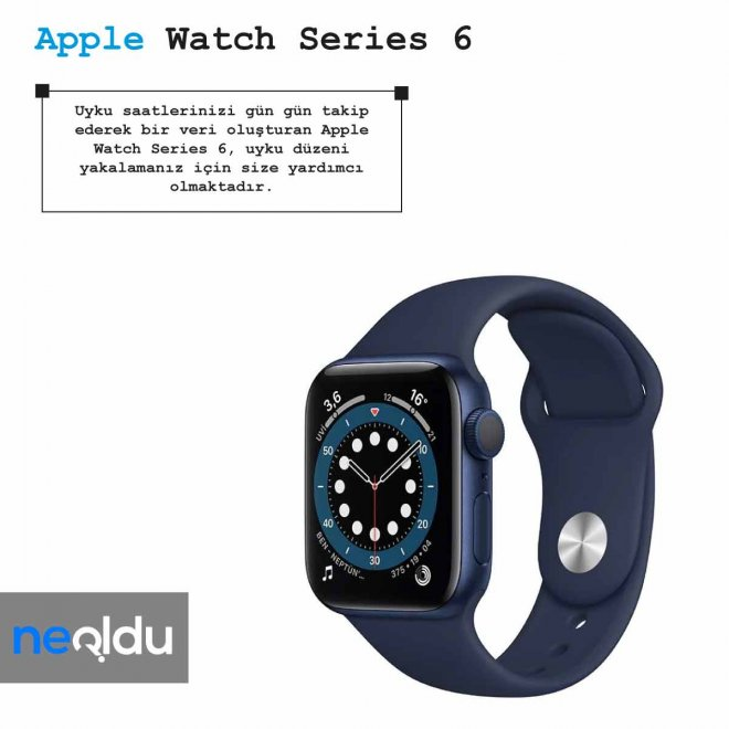 Apple Watch Series 6 uyku teknolojisi