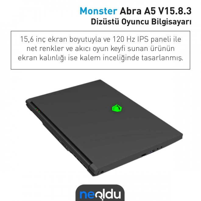 Monster Abra A5 ekran