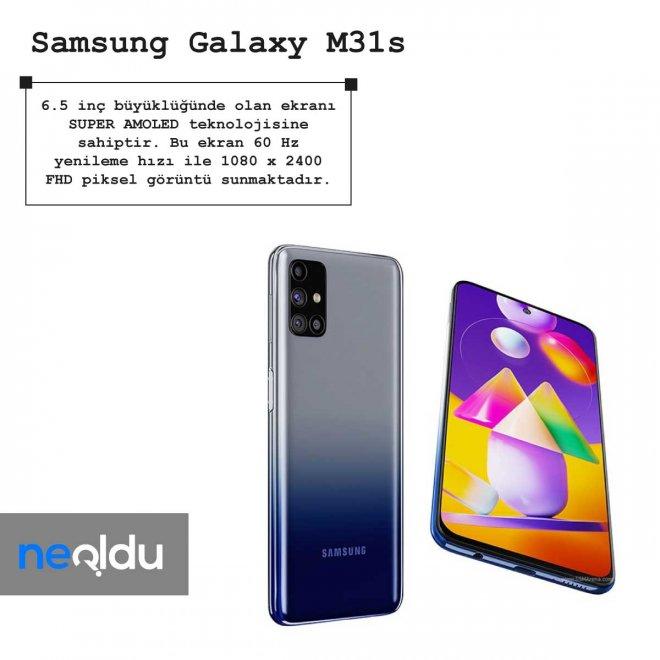 Samsung Galaxy M31s ekran bilgileri