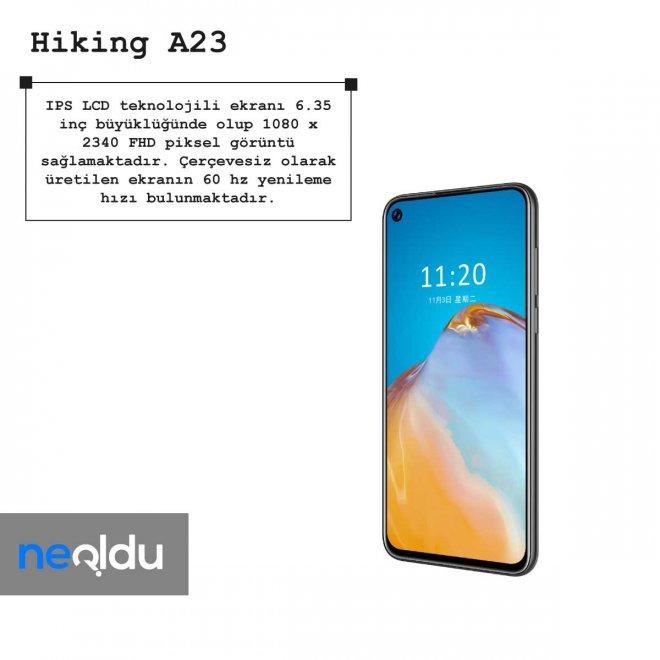 Hiking A23 ekran özellikleri