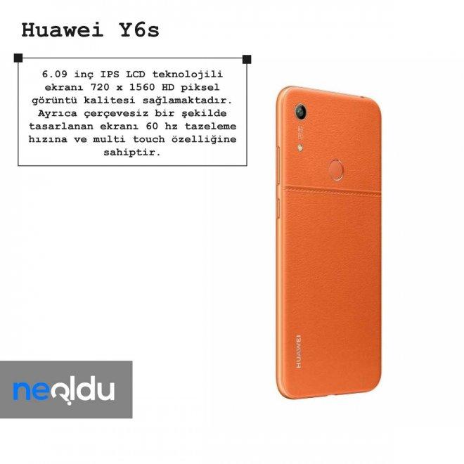 Huawei Y6s ekran özellikleri