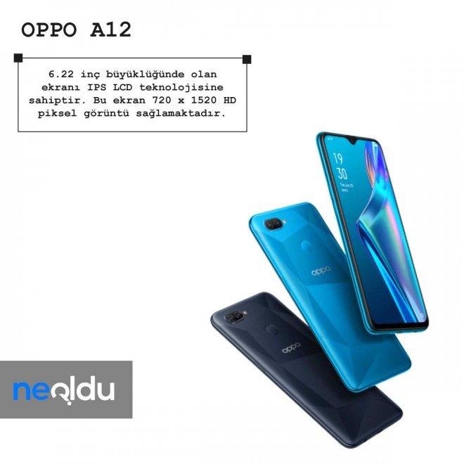 Oppo A12 ekran büyüklüğü