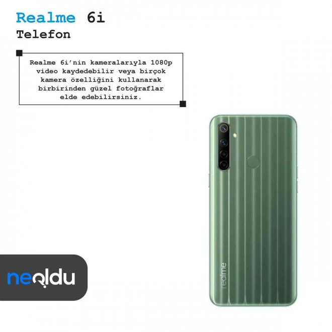 Realme 6i kamera özellikleri