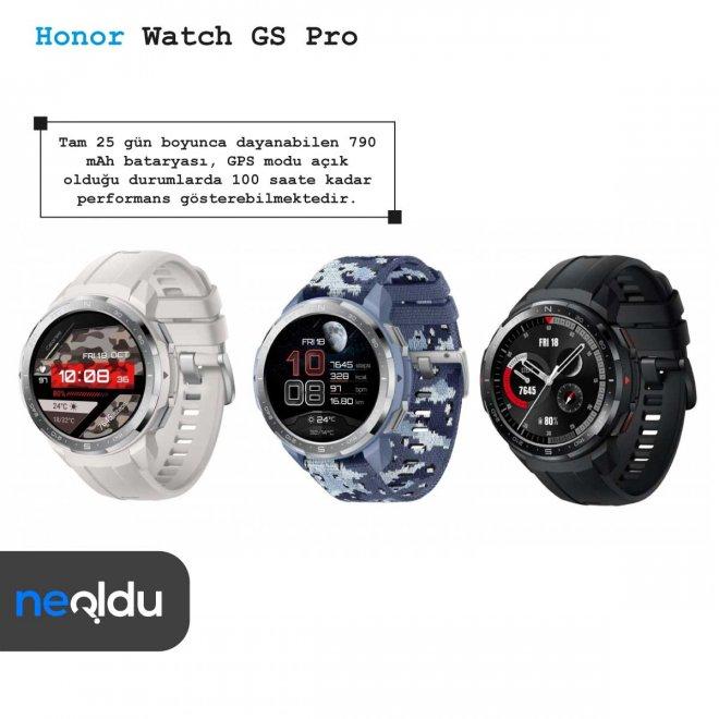 Honor Watch GS Pro batarya