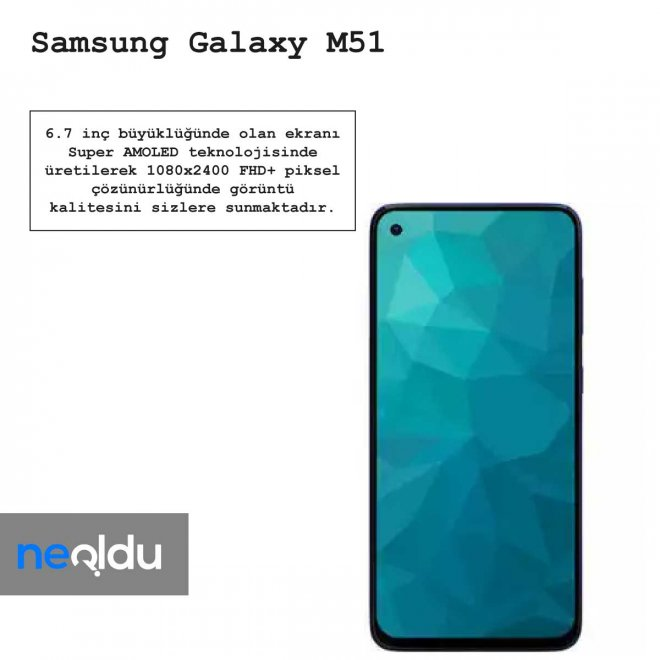 Samsung Galaxy M51 ekran özellikleri