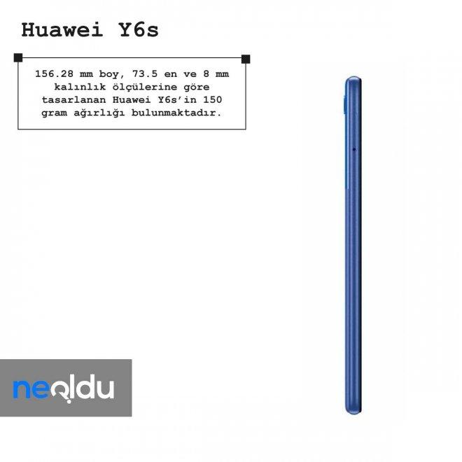 Huawei Y6s boyut bilgileri