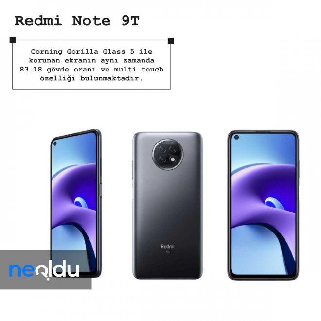 Redmi Note 9T boyut bilgisi