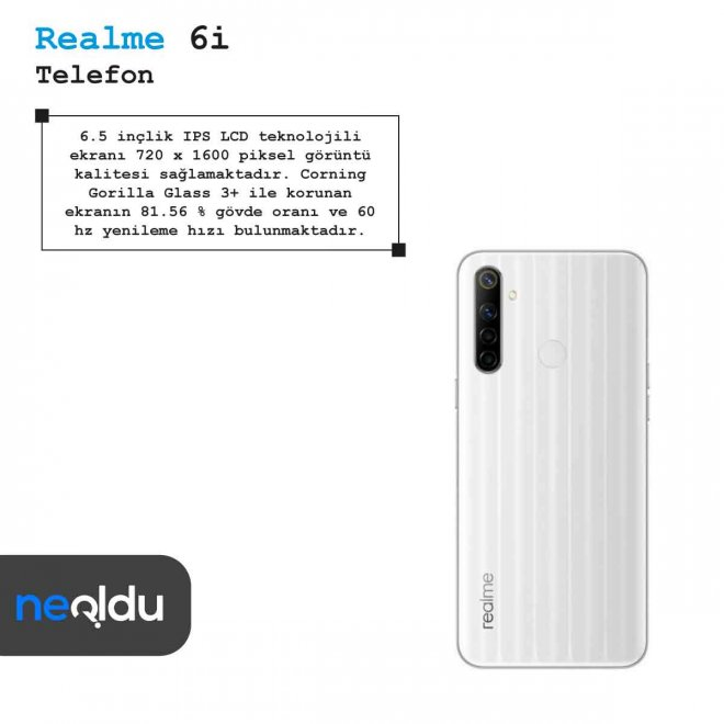 Realme 6i ekran özellikleri