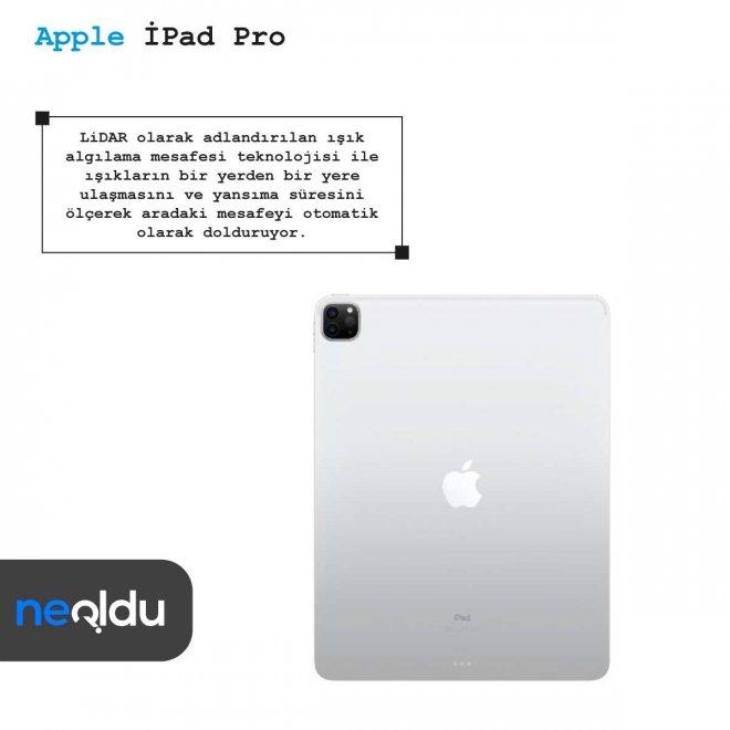 Apple iPad Pro lidar teknolojisi