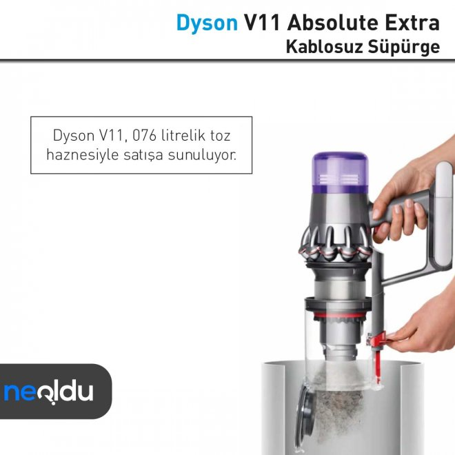 Dyson V11 Absolute Extra toz haznesi