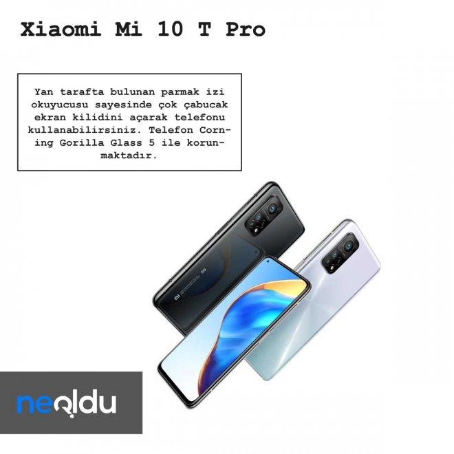 Xiaomi Mi 10 T Pro parmak izi