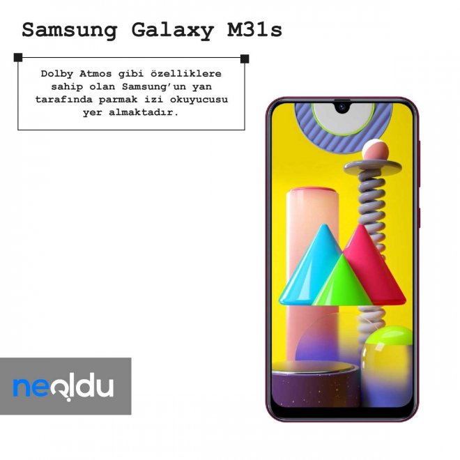 Samsung Galaxy M31s parmak izi okuyucusu