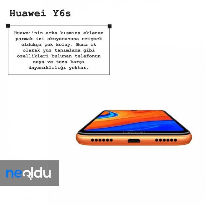 Huawei Y6s parmak izi okuyucusu