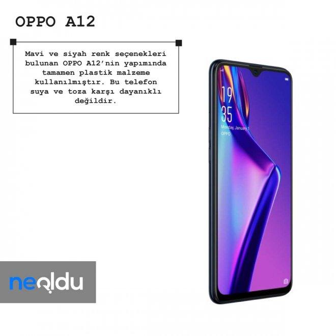 Oppo A12 renk seçenekleri