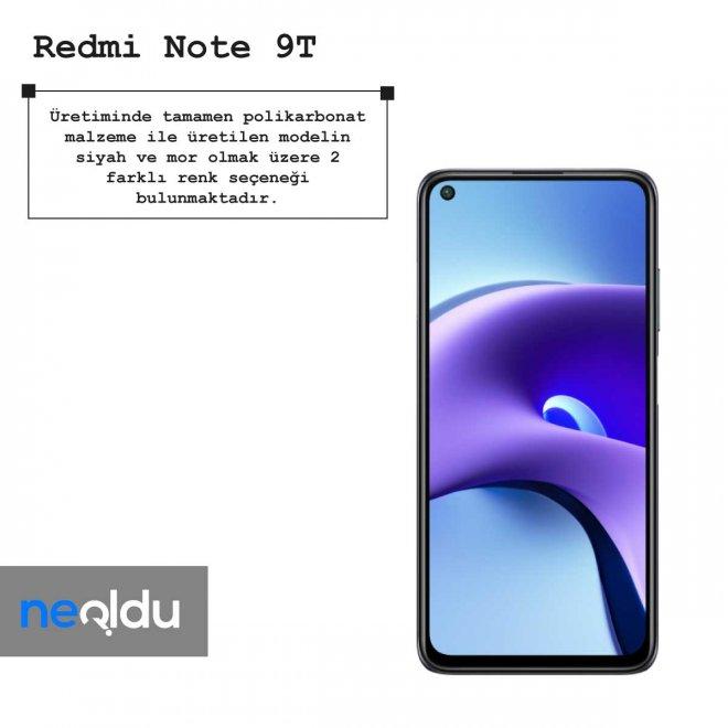 Redmi Note 9T renk seçeneği
