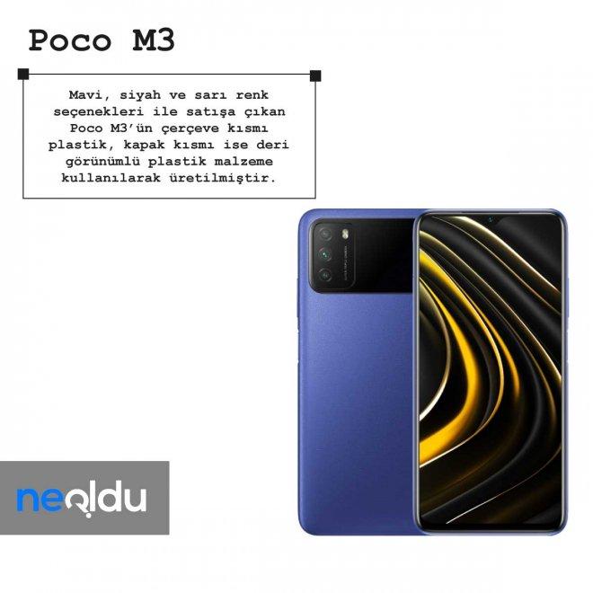 Poco M3 renk seçeneği