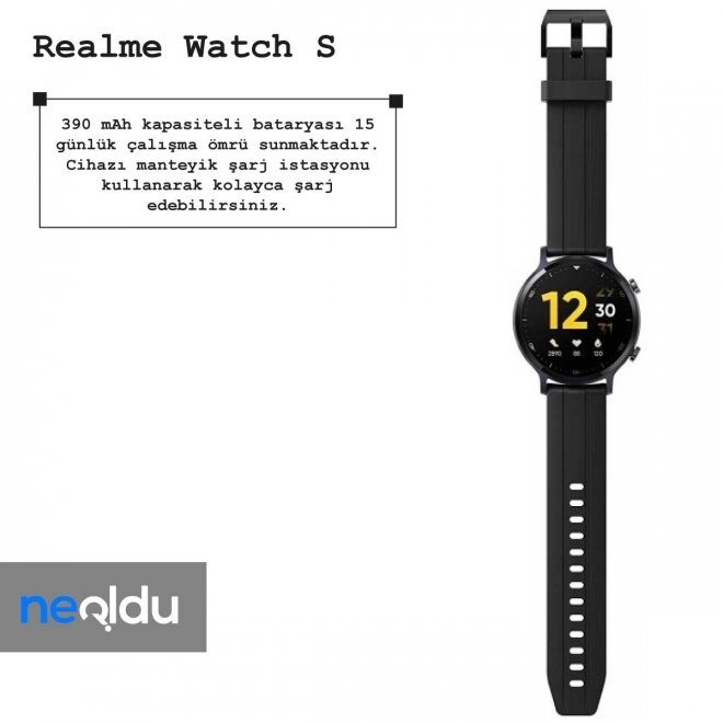 Realme Watch S pil ömrü