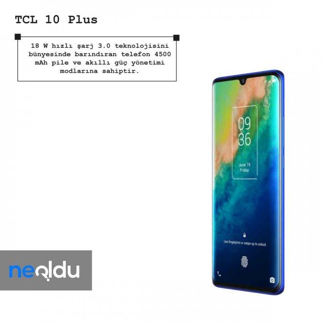 TCL 10 Plus hızlı şarj