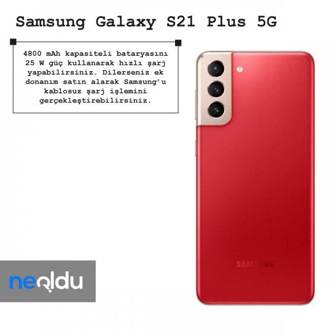 Samsung Galaxy S21 Plus 5G batarya kapasitesi