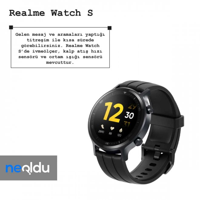 Realme Watch S sensör