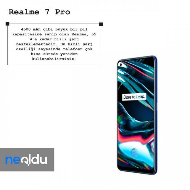 Realme 7 Pro batarya