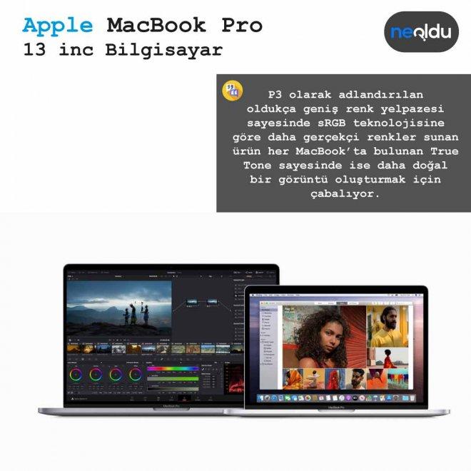 13 inç MacBook Pro renk teknolojisi